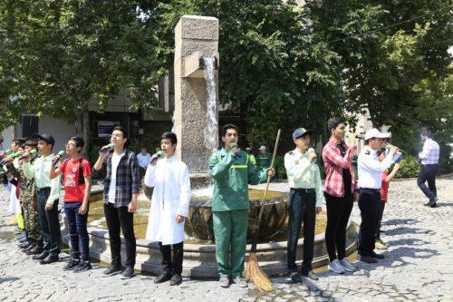 اجرای سرود در معابر پایتخت